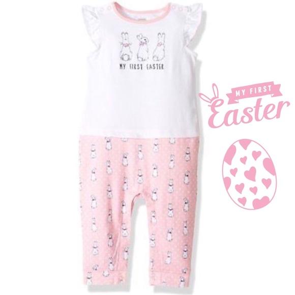 Gymboree Baby Girl 2 Piece Polka Dot Romper Bubble Peter Rabbit 18-24 Months NWT